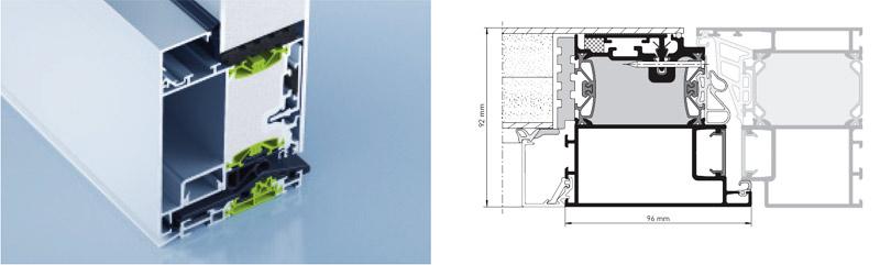 heroal D 92 einseitig flügelüberdeckend